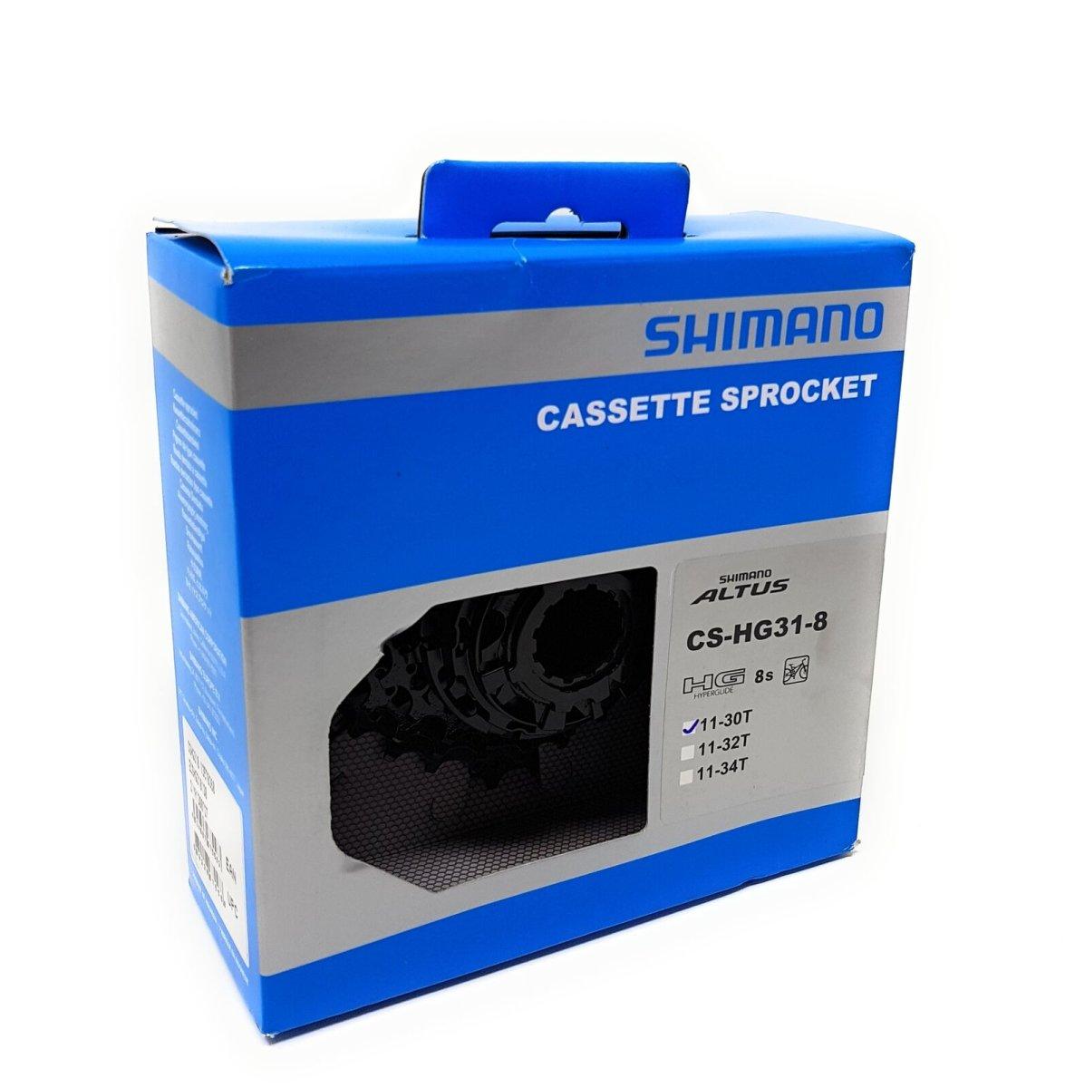 Купить Кассета Shimano CS-HG31-8i Черная, 11-30 BOX по лучшей цене |  Веломания - магазин велосипедов и не только..